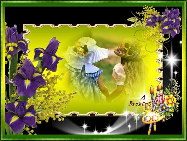 cadre fleurie