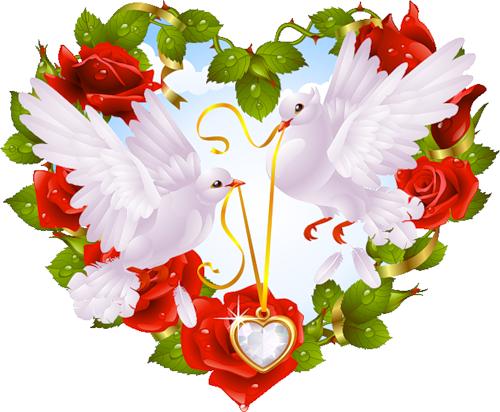 Gif coeur et fleur - Coeur en fleurs naturelles ...