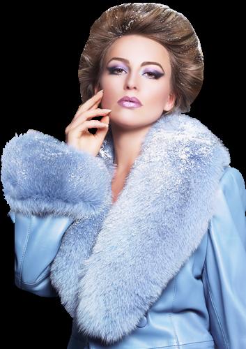 Manteau bleu pale femme