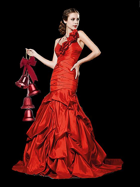 mujer hermoso vestido El rojo de 5RAj43L