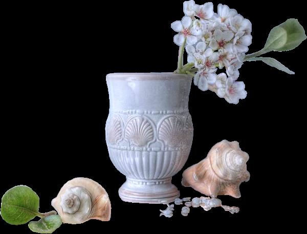 tube vase fleurs et escargots. Black Bedroom Furniture Sets. Home Design Ideas