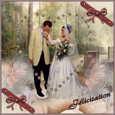 Carte de félicitation de mariage. Uaod869y